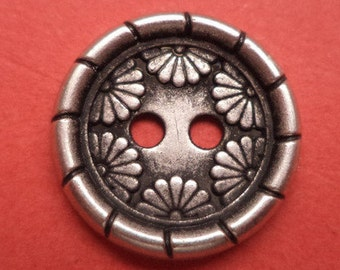 15 mm (1971) metal button buttons 11 metal buttons silver