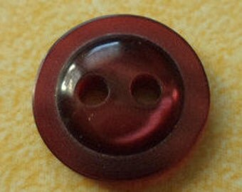 12 small buttons 12mm red (5711) dark red button
