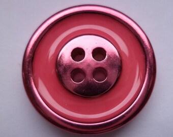 7 metal buttons pink metal 22 mm (1498) buttons