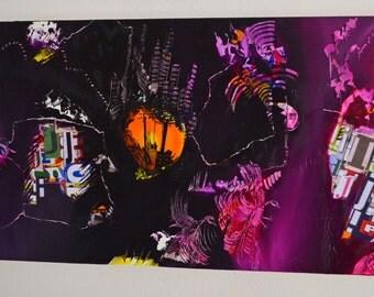 "Canvas painting oil ""migration"""