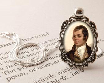 Robbie Burns Pendant Necklace - Hogmanay Jewellery, Burns Supper Gift, Auld Lang Syne Gift, Robert Burns Jewelry, Romantic Poetry Pendant