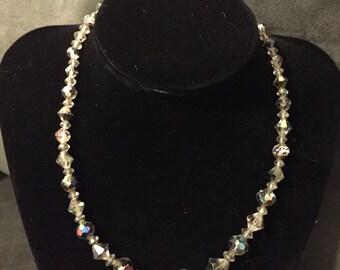 """Vintage Aurora Borealis Crystal 16"""" necklace"""