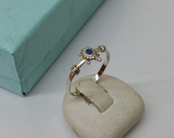 17.2 mm silver turtle ring RP125