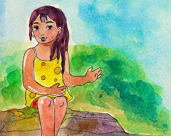 """How - Archival Quality Art Print - Watercolor Illustration - """"How"""""""