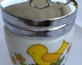 Vintage Milk Glass Egg Cobbler