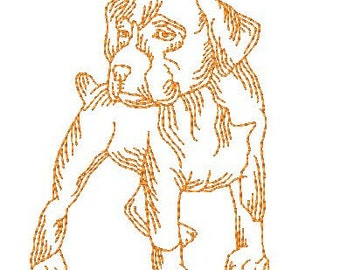 Boxer Dogs  ( 12 Machine Embroidery Designs from ATW )