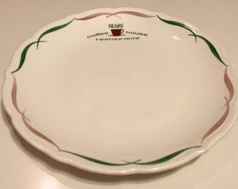 Sears Coffee House Restaurant Plates