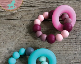 Teething ring • Silicone hand held teether for baby