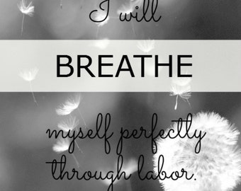 8 Printable Birth Affirmations, Pregnancy Affirmations, Hypnobirthing Affirmations, Doula Gift