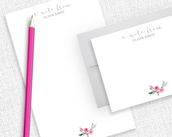 Personalized Stationery, Personalized Stationary, Personalized Note Cards, Thank You Note Cards,  Stationery Set, Notepad, Note pad