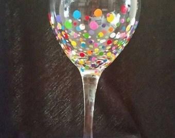 Wine glasses,  Hand Painted Glassware