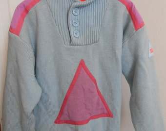 Vintage, 80s, retro, SOS, ski sweater