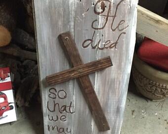 He Died Cross