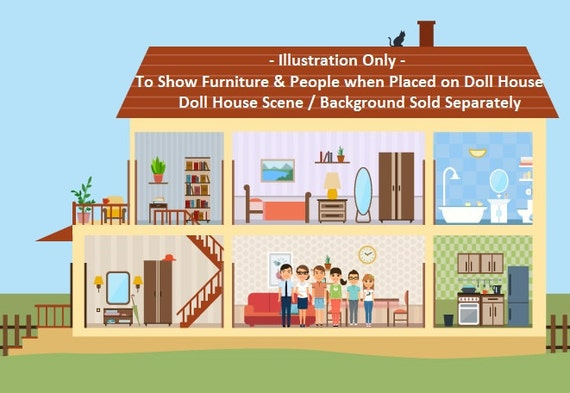 Doll House Furniture and People - MagReceptive