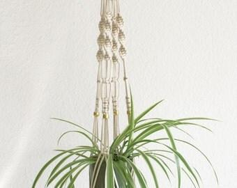 """Modern macrame hanging basket plant 95 cm / modern macrame hanger 37 """""""