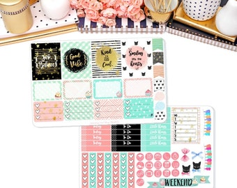 Soft Glam Weekly Sticker Kit for Erin Condren Vertical Life Planner