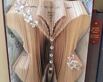 Butterfly Folded Book Art
