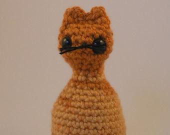 Amigurumi Crocheted Orange Kitty