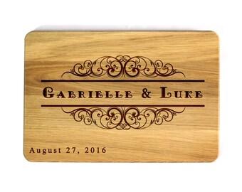 Wedding gift cutting board Wedding Monogram Personalized Cutting Board Custom cutting board Wedding Gift Kitchen decor Gift for couple