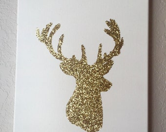 Glitter Deer Wall Hanging