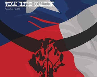 Texas Hippie Coalition Poster - Pride of Texas - Custom Band Poster - Heavy Metal Alternative Gift idea Music Poster Not Country Music