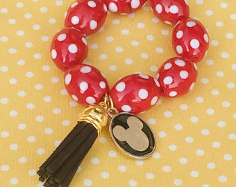 Minnie Mouse Tassel Toddler Bracelet