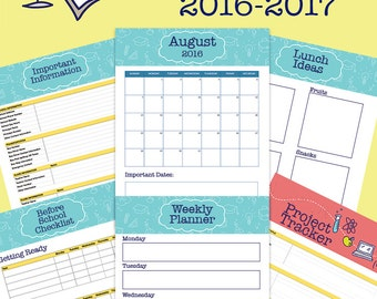 Printable School Year Planner