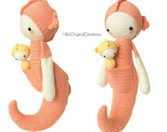 Amigurumi Hippocampe : SEPP the seahorse lalylala crochet pattern / amigurumi