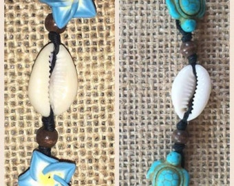 Bead & Cowry Shell Necklace