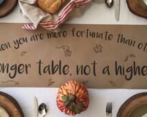 Thanksgiving Table Runner - Kraft Paper Table Runner - Build a Longer Table - 1 pc.