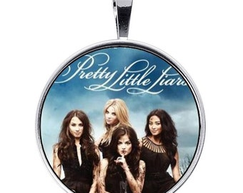 PRETTY LITTLE LIARS adjustable necklace 30mm logo tv series resin handmade