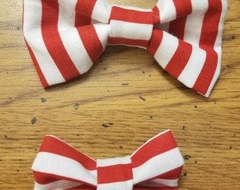 Candy Cane Stripe Bow