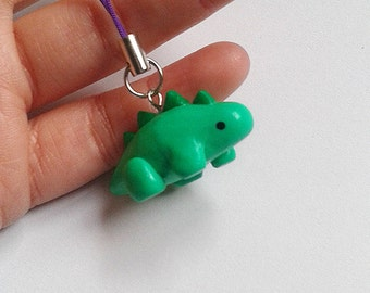 Pendant green dinosaur of Sculpey
