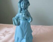 Vintage Avon Perfume Bottle - Little Girl Blue Cologne - 1970's