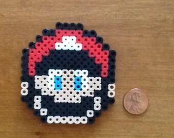 Nintendo Super Mario Bros Mario Face Perler