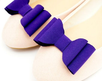 Purple bows - shoe clips Manuu