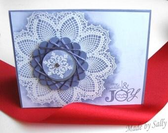 Tidings of Comfort and Joy Greeting Card, Handmade