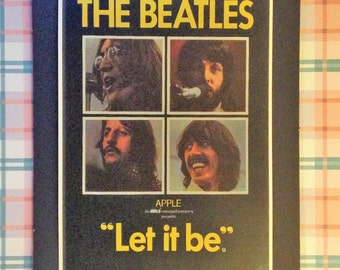 The Beatles Let It Be Vintage Concert Poster 12'x18' Reproduction // John Lennon // Paul McCartney // George Harrison // Ringo Starr