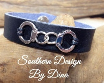 Leather Handcuff Bracelet