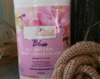 Bliss..Deep Cracked Cream..Sore dry Cracked Hands,Heals and Eczema.
