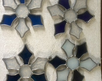 Lot of 4 Vintage Stained Glass Suncatchers