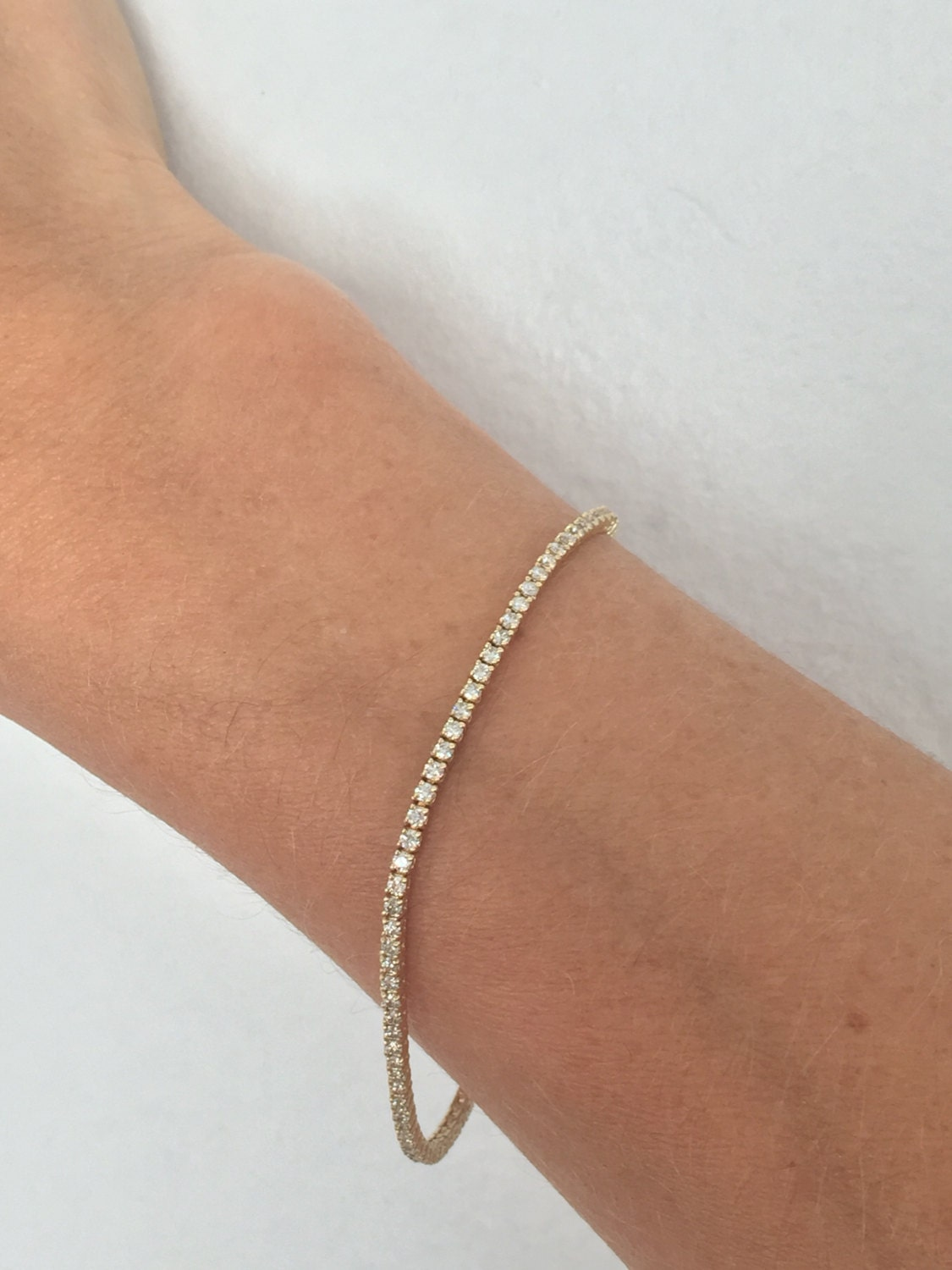 Diamond Anklet With Toe Ring Lc00035 In Anklets From: Diamond Tennis Bracelet Tennis Bracelet Dainty Tennis