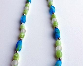Ocean Blue Swirl Necklace