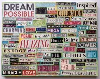 "Word Collage ""Dream Possible"""