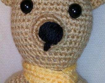Ben - Handmade - Teddy Bear - Amigurumi - Crochet.