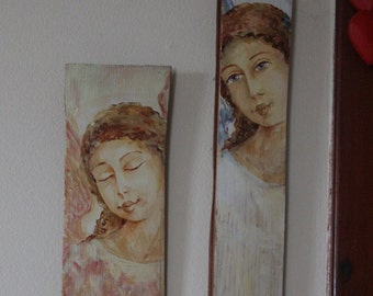 ANGEL on wood panels