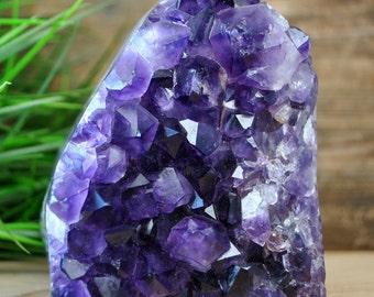 Standing Purple Amethyst Crystal Geode  -  1223.19