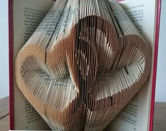 Two Hearts Bookfolding Pattern