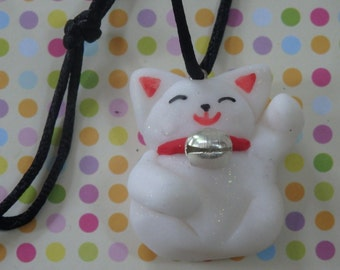 Necklace brings happiness Maneki Neko - Lucky Cat