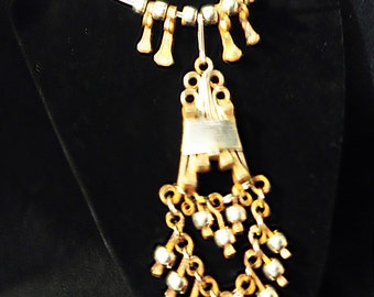 Vintage Handmade African Nail Necklace Voodoo Priestess Magic Wiccan Pagan Industrial Urban Witch Primative